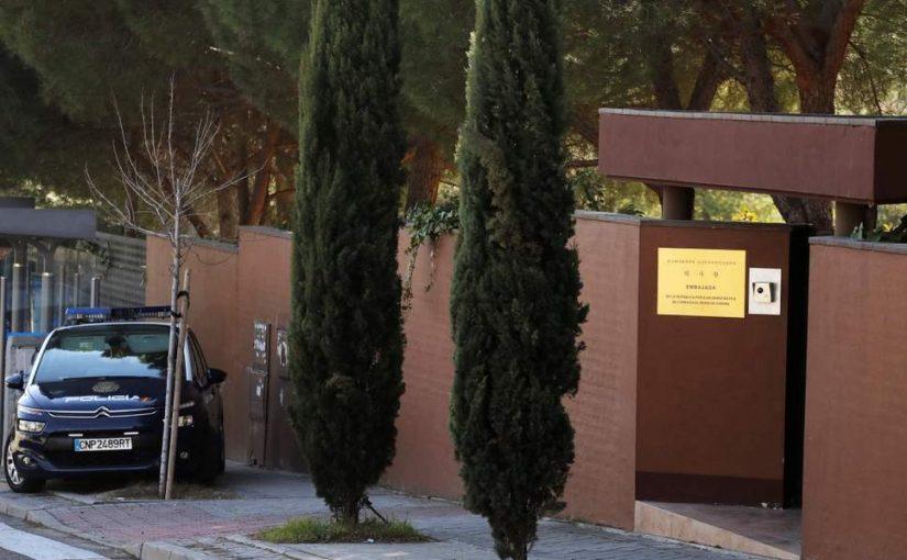 Embajada de Corea del Norte en Madrid 'atacada por activistas que intentan derrocar a Kim Jong-un'.