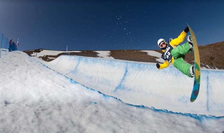 Sierra Nevada se está convirtiendo rápidamente en un paraíso natural para los mejores snowboarders de España.